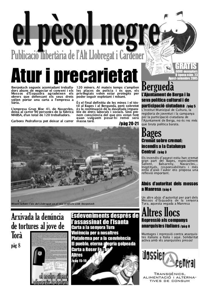 El pèsol Negre. Nº 23. Agost-setembre 2005