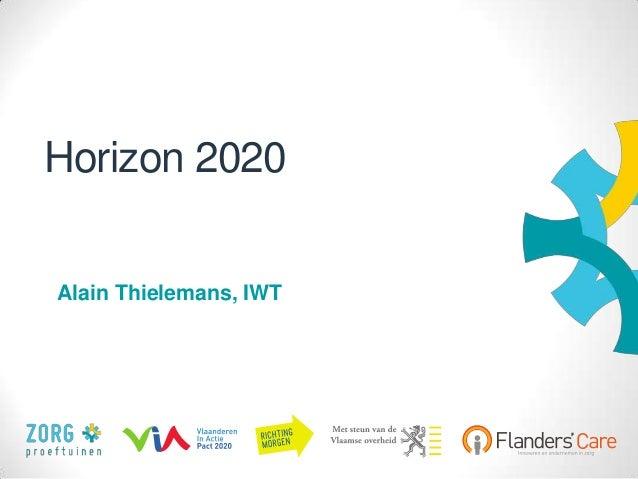 Horizon 2020 - Alain Thielemans