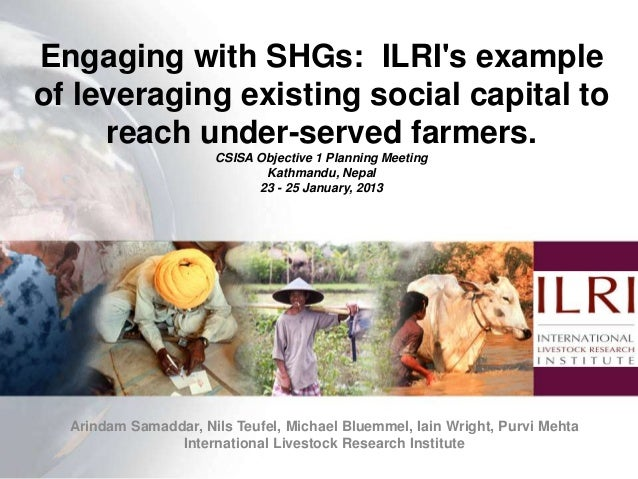 Engaging with SHGs: ILRIs exampleof leveraging existing social capital to     reach under-served farmers.                 ...