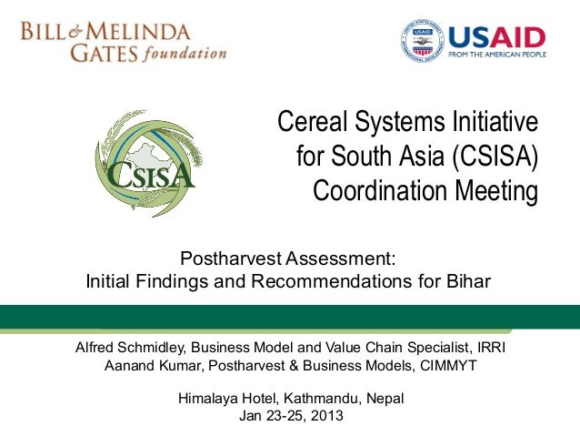 Cereal Systems Initiative                               for South Asia (CSISA)                                 Coordinatio...