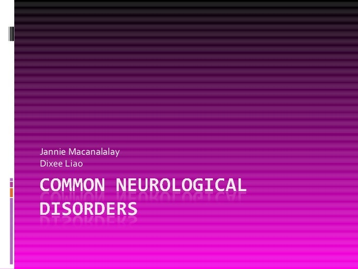 23. common neurological disorders
