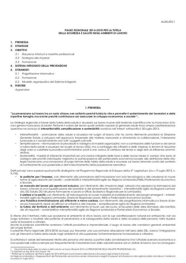 23   lombardia piano 2014 - 2018 sicurezza lavoro