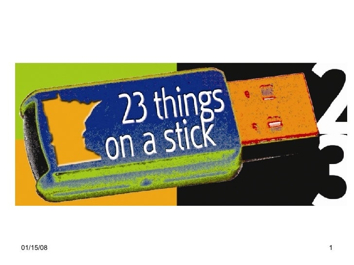 23 Things On A Stick Presentation 1
