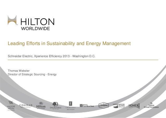 Hilton Worldwide - Leading Efforts in Sustainability and Energy Management