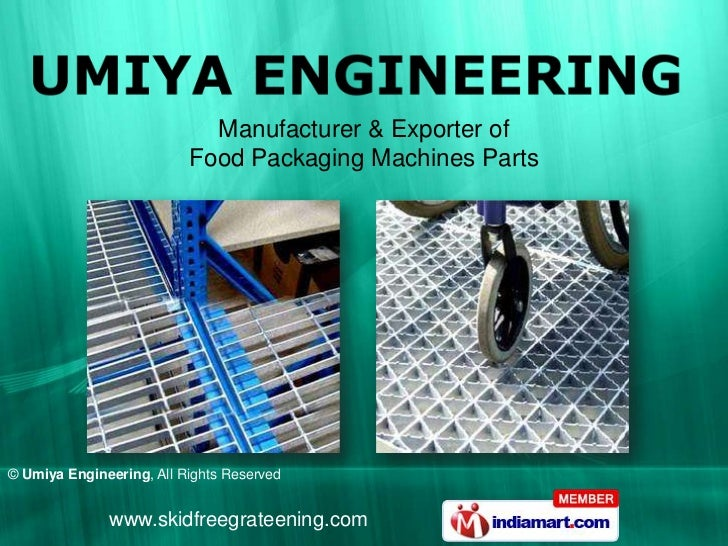 Manufacturer & Exporter of                          Food Packaging Machines Parts© Umiya Engineering, All Rights Reserved ...
