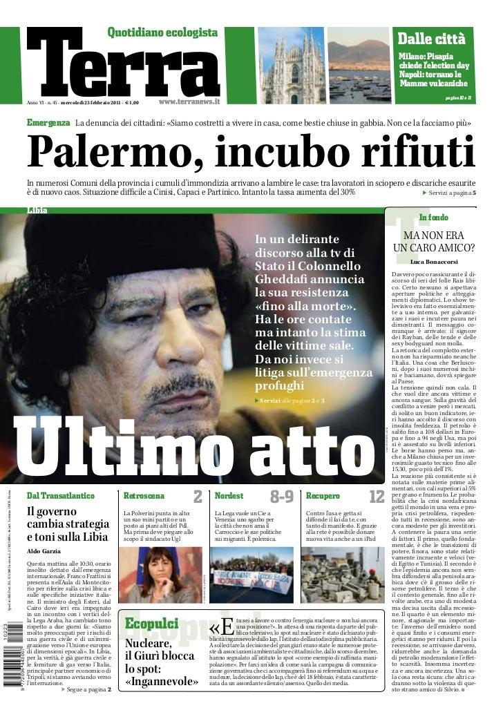 TERRA - quotidiano - 23/02/2011