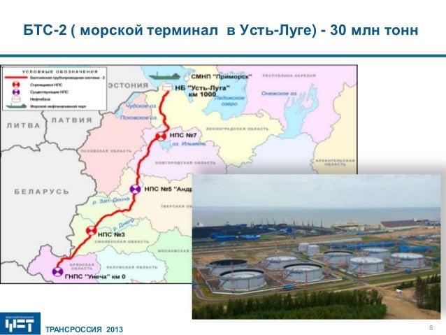 в Усть-Луге) - 30 млн тонн
