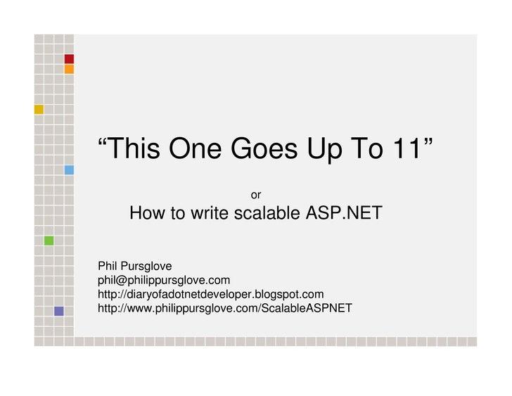 ASP.NET Scalability - DDD7