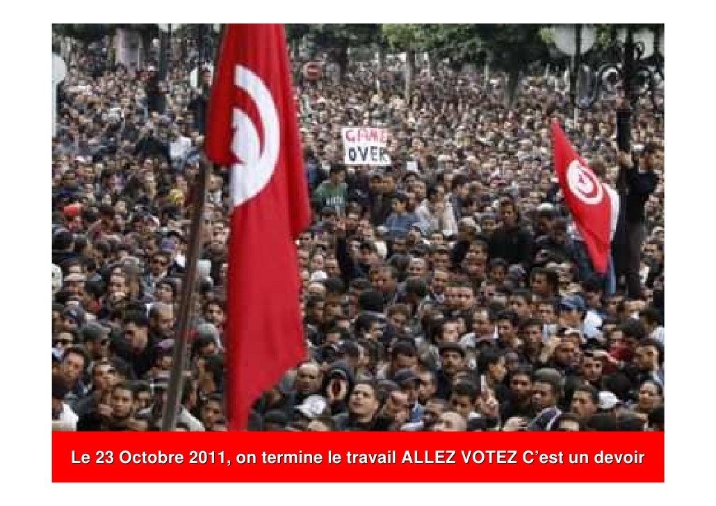 Le 23 Octobre 2011, on termine le travail ALLEZ VOTEZ C'est un devoir