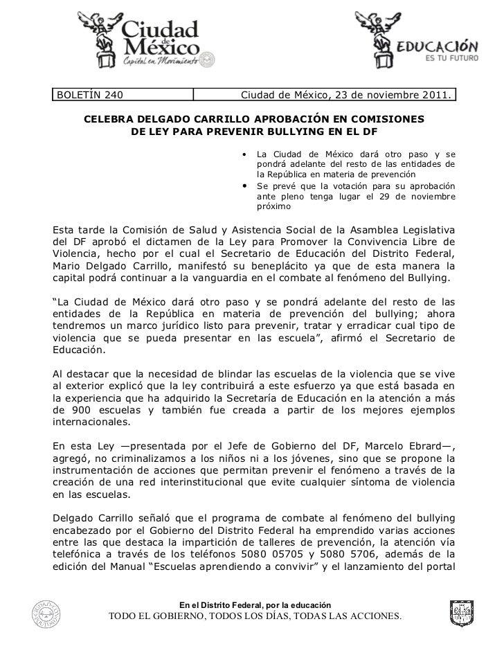 Aprobado el dictamen de la Ley para Promover la Convivencia Libre de Violencia en la Comisión de Salud y Asistencia Social...