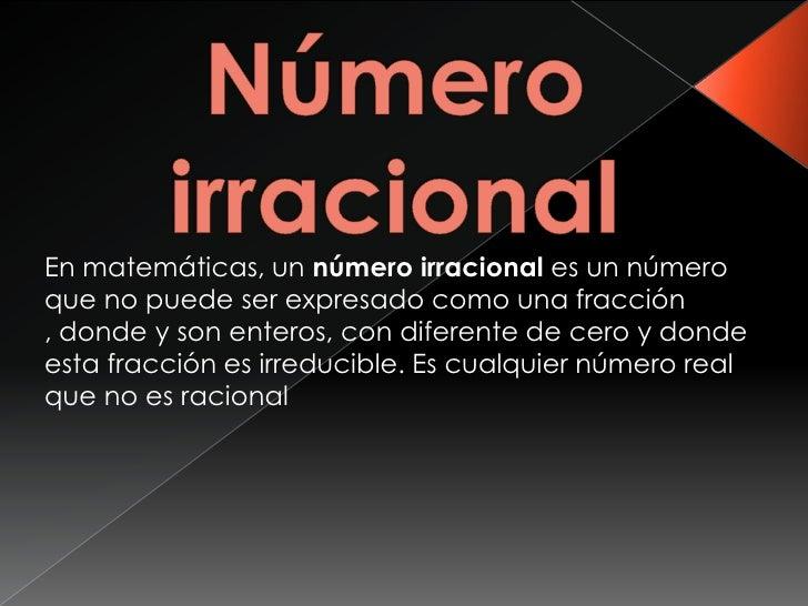 Numeros Irracionales