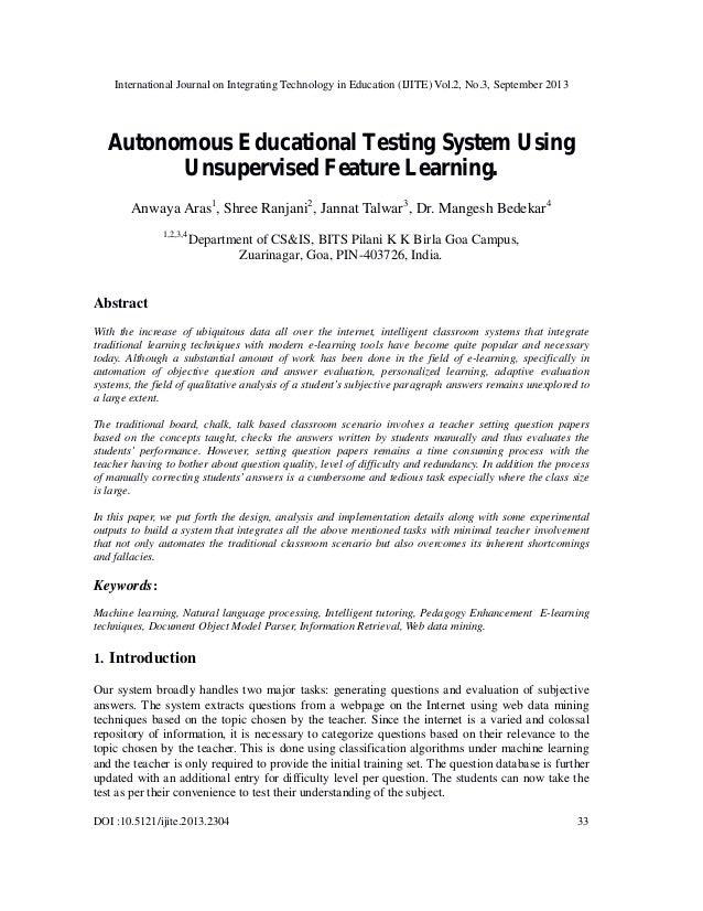 International Journal on Integrating Technology in Education (IJITE) Vol.2, No.3, September 2013 DOI :10.5121/ijite.2013.2...