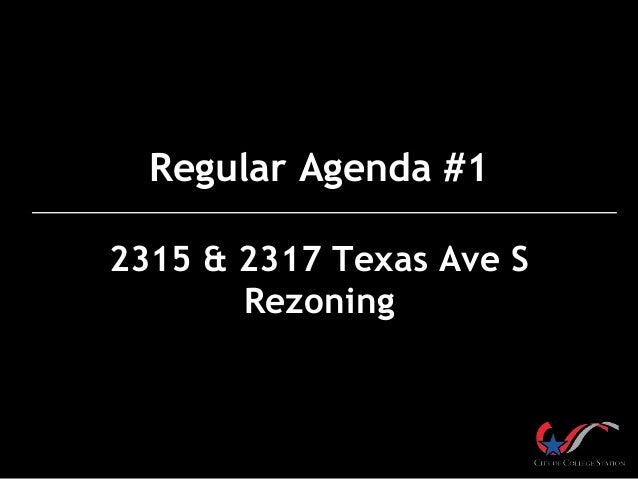 2315 & 2317 Texas Ave. S Rezoning