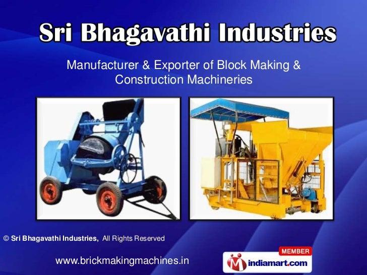 Sri Bhagavathi Industries Tamil Nadu India