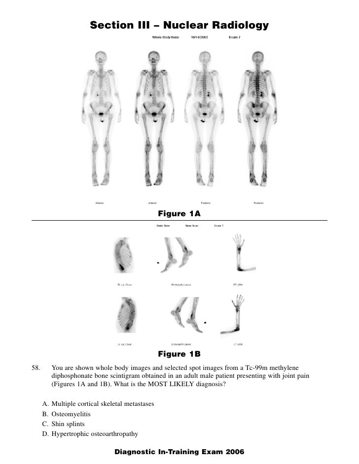 Section III – Nuclear Radiology                                                        Figure 1A                          ...