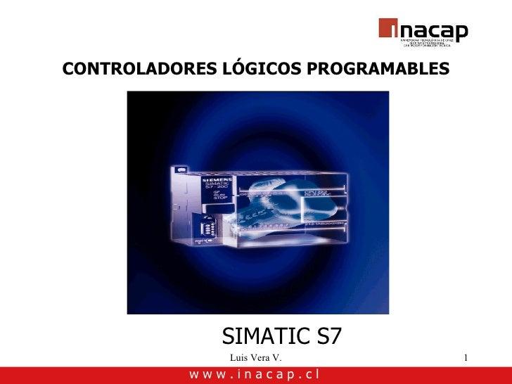 CONTROLADORES LÓGICOS PROGRAMABLES PLCs SIMATIC S7