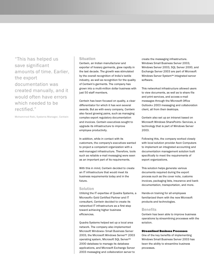 Business Case Study: Microsoft
