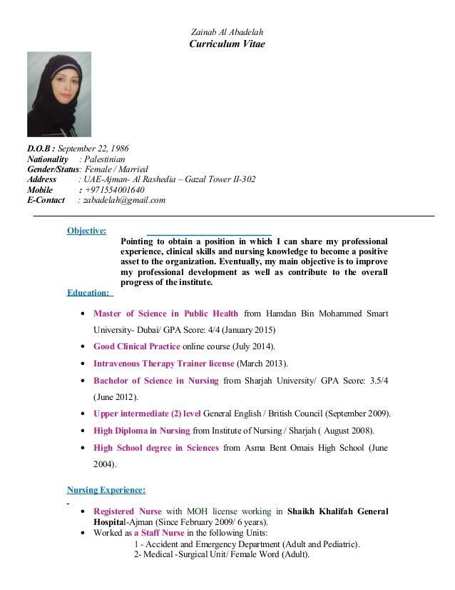 Zainab Cv