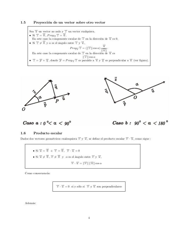 Proyeccion Sobre un Vector 1.5 Proyección de un Vector