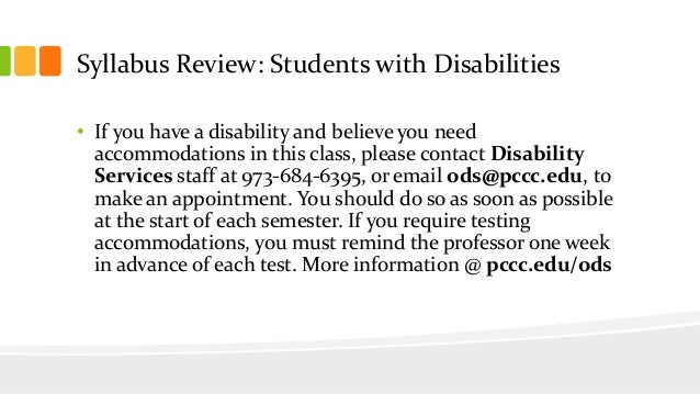 SYLLABUS REVIEW TO INSTRUCTORS THE PROCEDURE