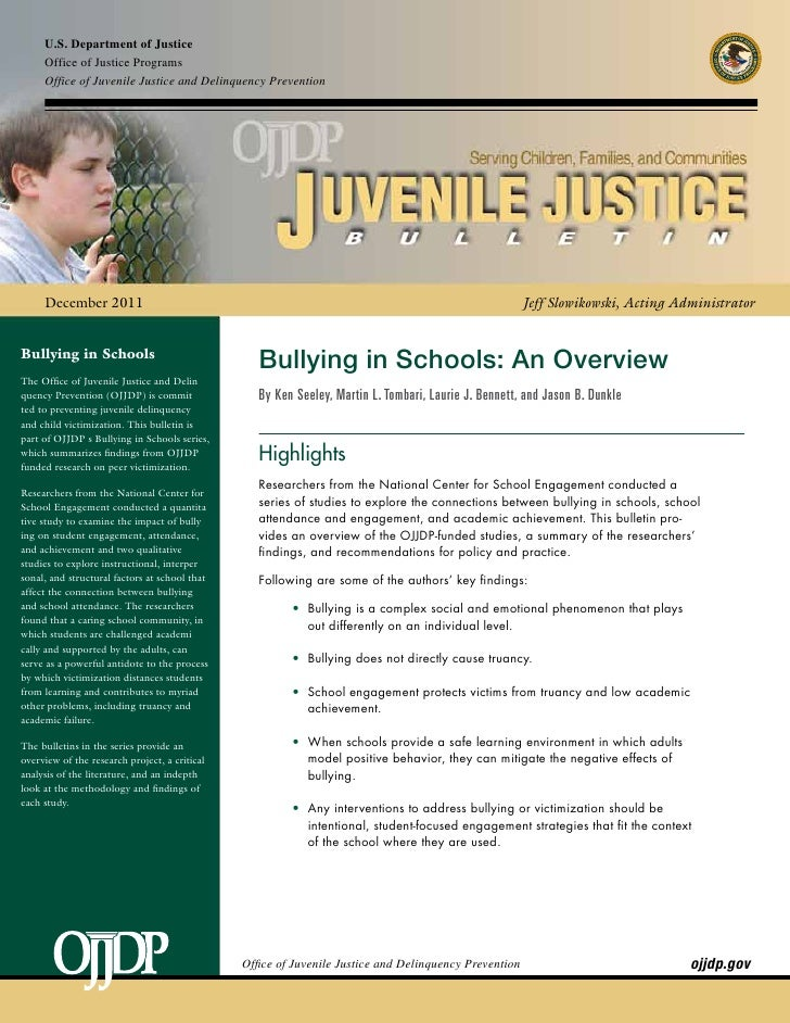 U.S. Department of Justice     Office of Justice Programs     Office of Juvenile Justice and Delinquency Prevention     De...