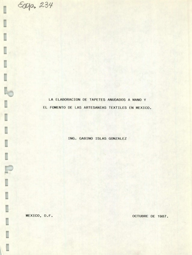 La elaboraci n de tapetes anudados a mano y el fomento de for Tapetes anudados a mano