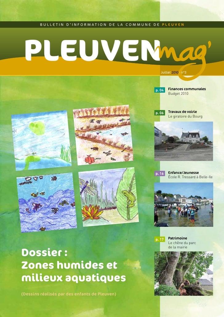 BULLETIN D'INFORMATION DE LA COMMUNE DE PLEUVEN      PLEUVEN                                           Juillet 2010 • n°3 ...