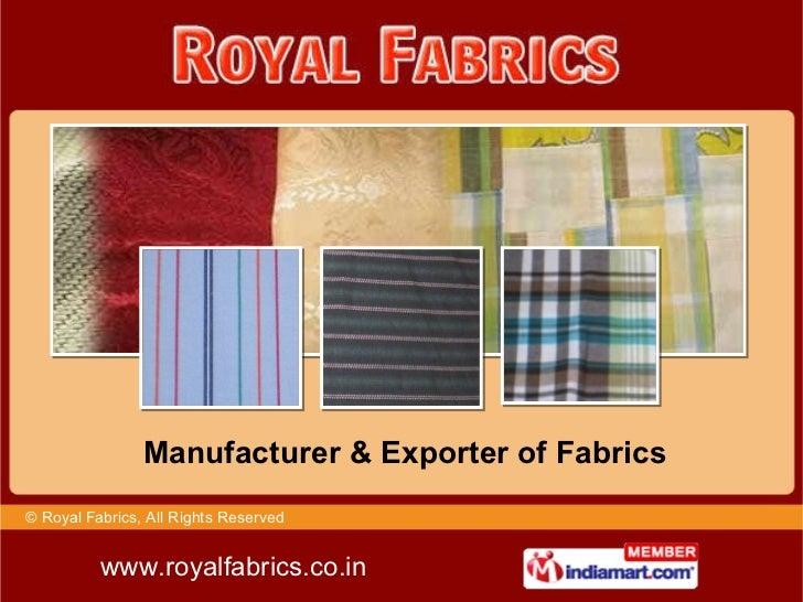 Royal Fabrics Chennai India