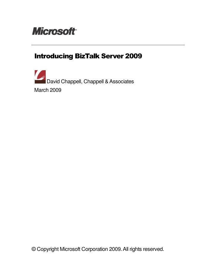 Introducing BizTalk Server 2009