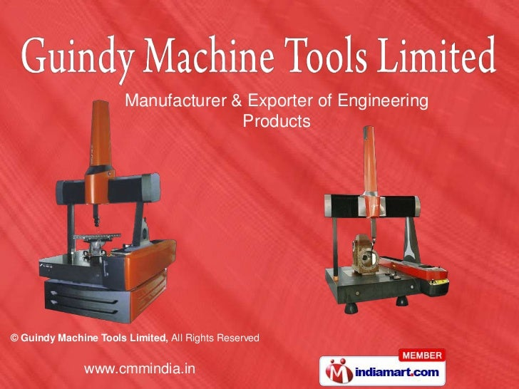 Manufacturer & Exporter of Engineering                                     Products© Guindy Machine Tools Limited, All Rig...
