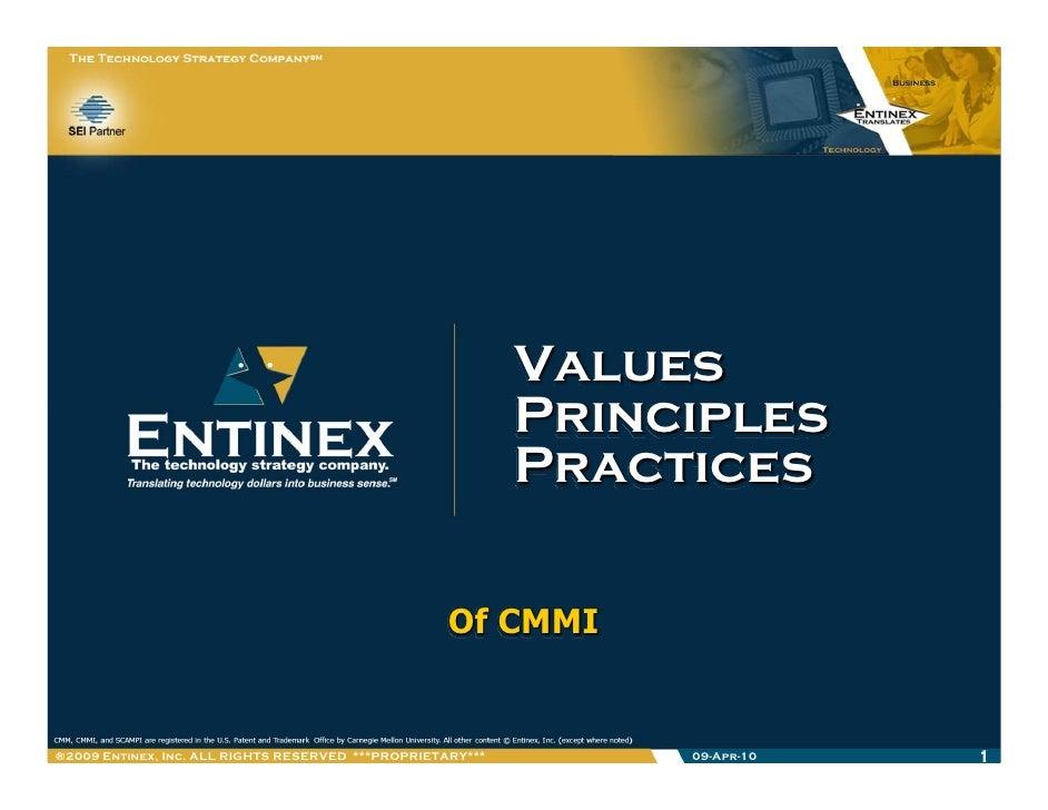 Values, Principles & Practices (of Performance Improvement)