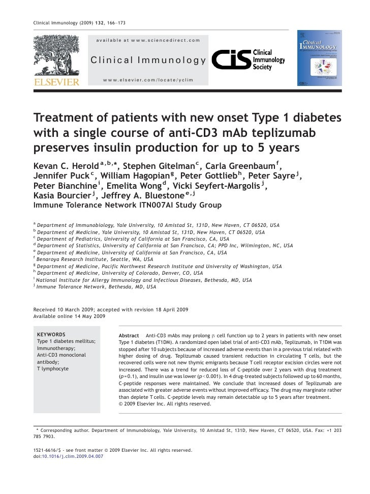 Treatment of patients with new onset Type 1 diabetes with a single course of anti-CD3 mAb teplizumab