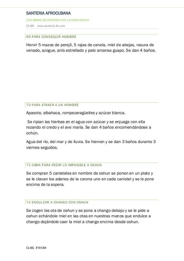 Baño De Tina Con Miel:236 hechizos con oshun clmg