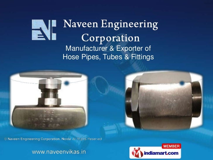 Manufacturer & Exporter ofHose Pipes, Tubes & Fittings