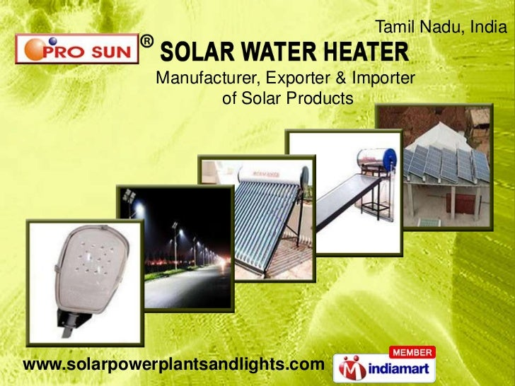 Tamil Nadu, India              Manufacturer, Exporter & Importer                     of Solar Productswww.solarpowerplants...