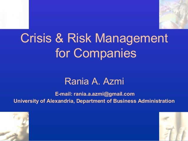crisis management big companies Global chair, crisis & reputation risk: harlan loeb the trust of customers and the public is developed by how companies manage reputational risk and crisis response this is where our global crisis & risk mitigation team can help, especially when the stakes are highest.