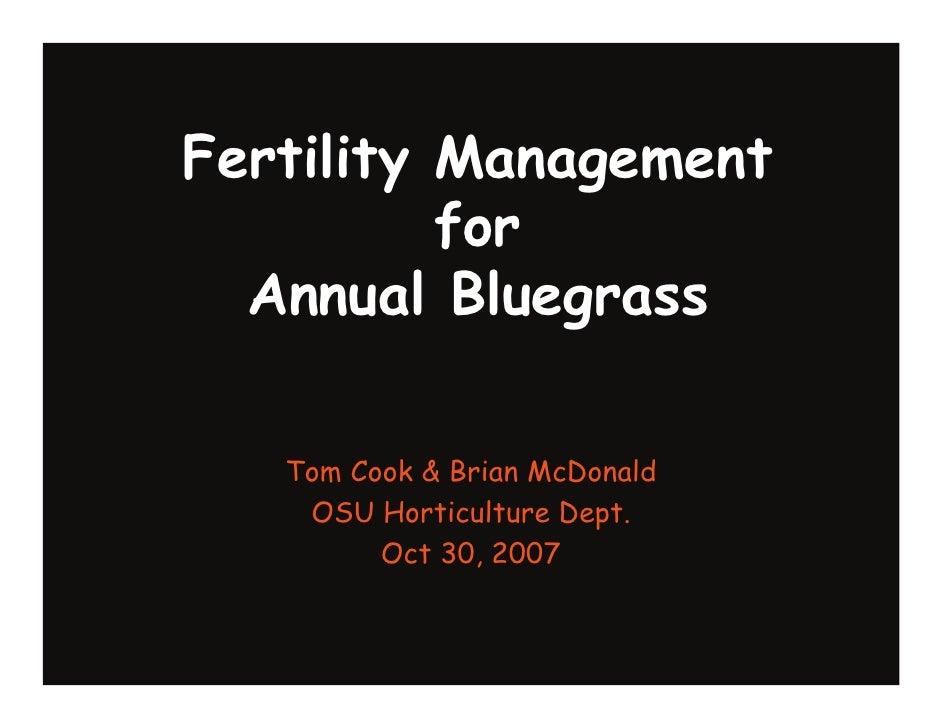 Fertility Management for Annual Bluegrass
