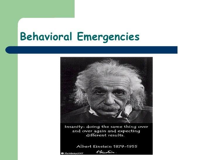 23)Behavioral Emergencies
