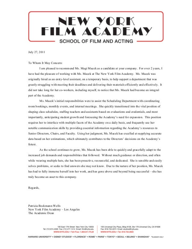 patriotexpressus picturesque letter of rec new york film academy with inspiring july to whom it may