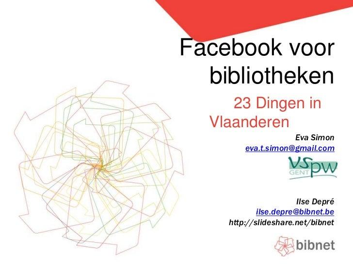 Facebook voor bibliotheken
