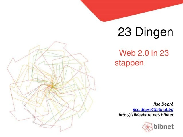 23 Dingen - Web 2.0 in 23 stappen