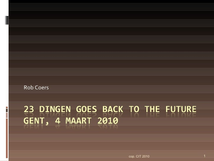 23dingen back to the future