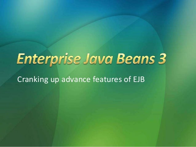EJB3 Advance Features