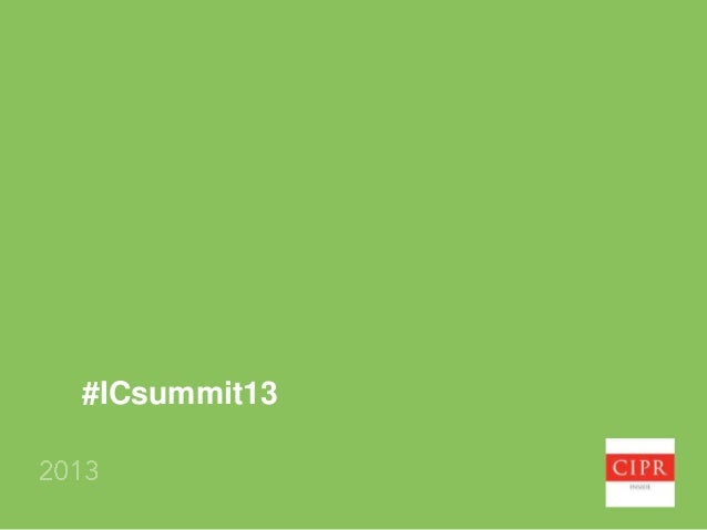 Surveys, sentiment and strategy internal communication measurement summit, CIPR Inside