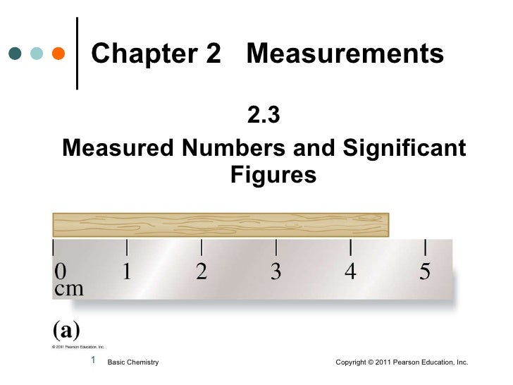 <ul><li>2.3 </li></ul><ul><li>Measured Numbers and Significant Figures </li></ul>Chapter 2  Measurements Basic Chemistry  ...