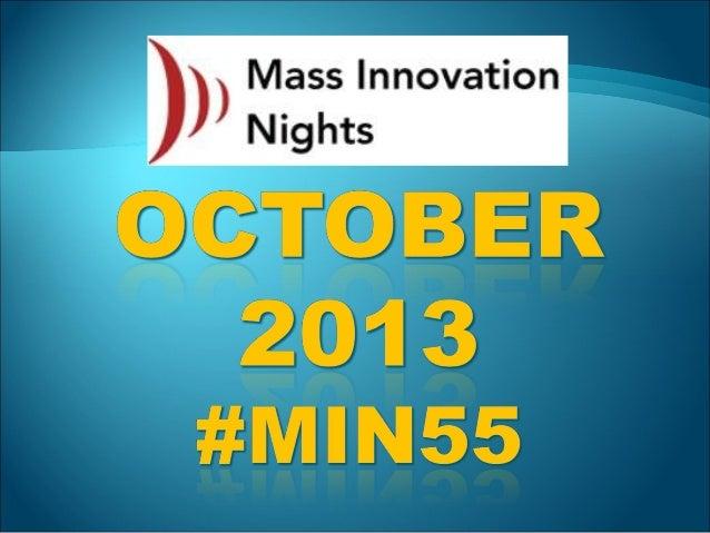 #MIN55 event slideshare