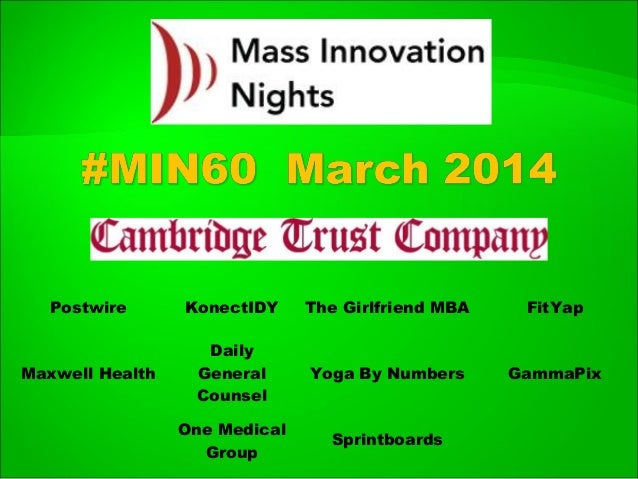 #MIN60 event slideshare