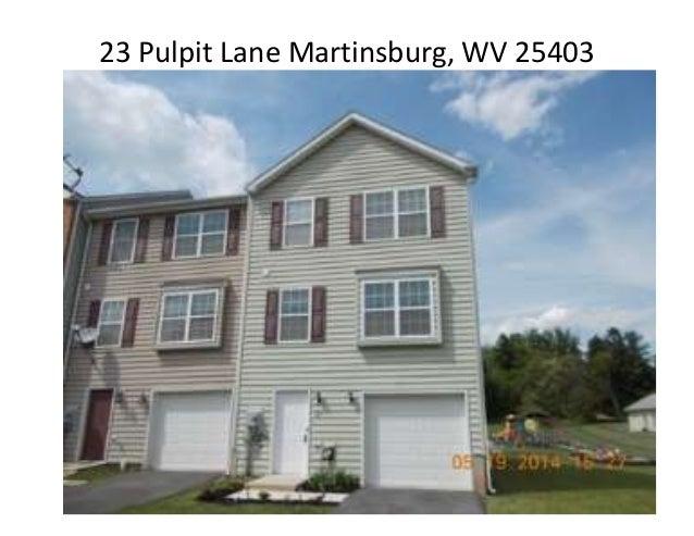 23 Pulpit Lane Martinsburg, WV 25403
