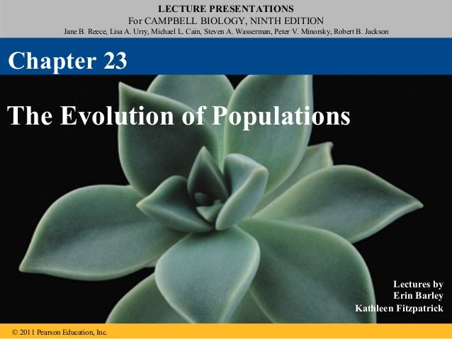 23 the evolution of populations