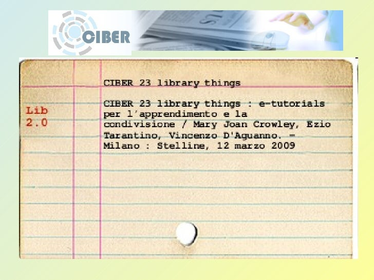 CIBER 23 library things